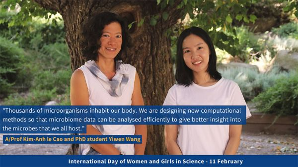 Associate Professor Kim-Anh le Cao and Yiwen Wang