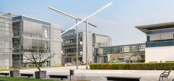 The Max Planck Institute of Molecular Plant Physiology campus on a sunny day