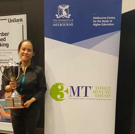 Wing Chan is a PhD student at the University of Melbourne who won the 2018 3 minute thesis competition.