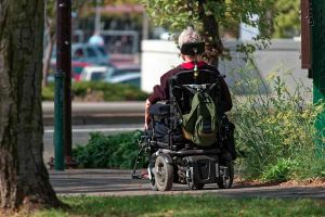 Photo of a wheelchair user