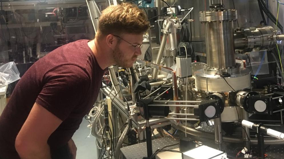 Image of Daniel Flynn with machine