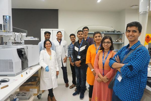 BSc (Blended) students exploring a lab